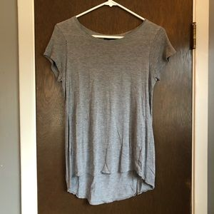 Cupio Gray Pleated-Back Tee